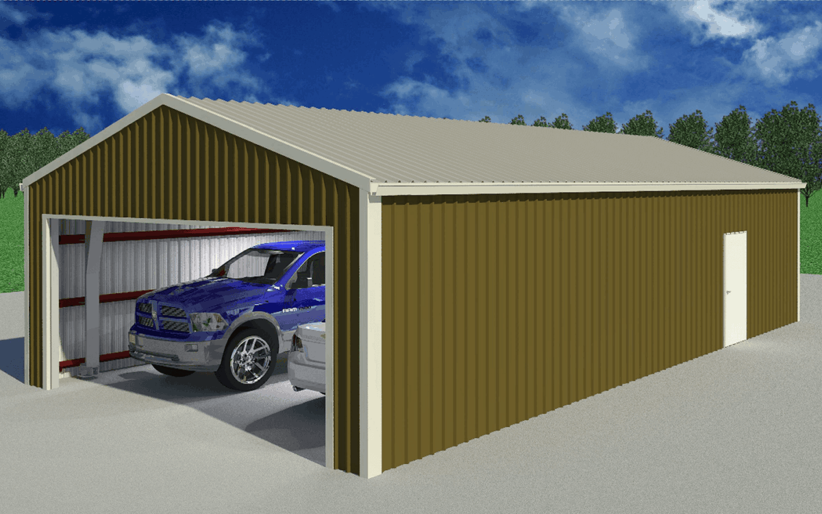 LAMS24 Garage Exterior Door Open 1 1
