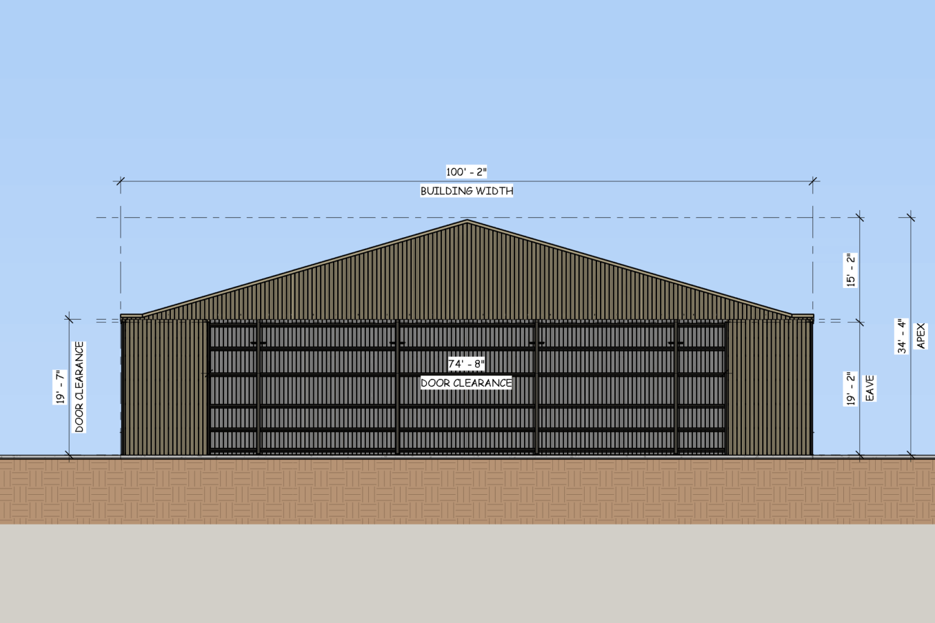 LAMS100 Front Elevation 1
