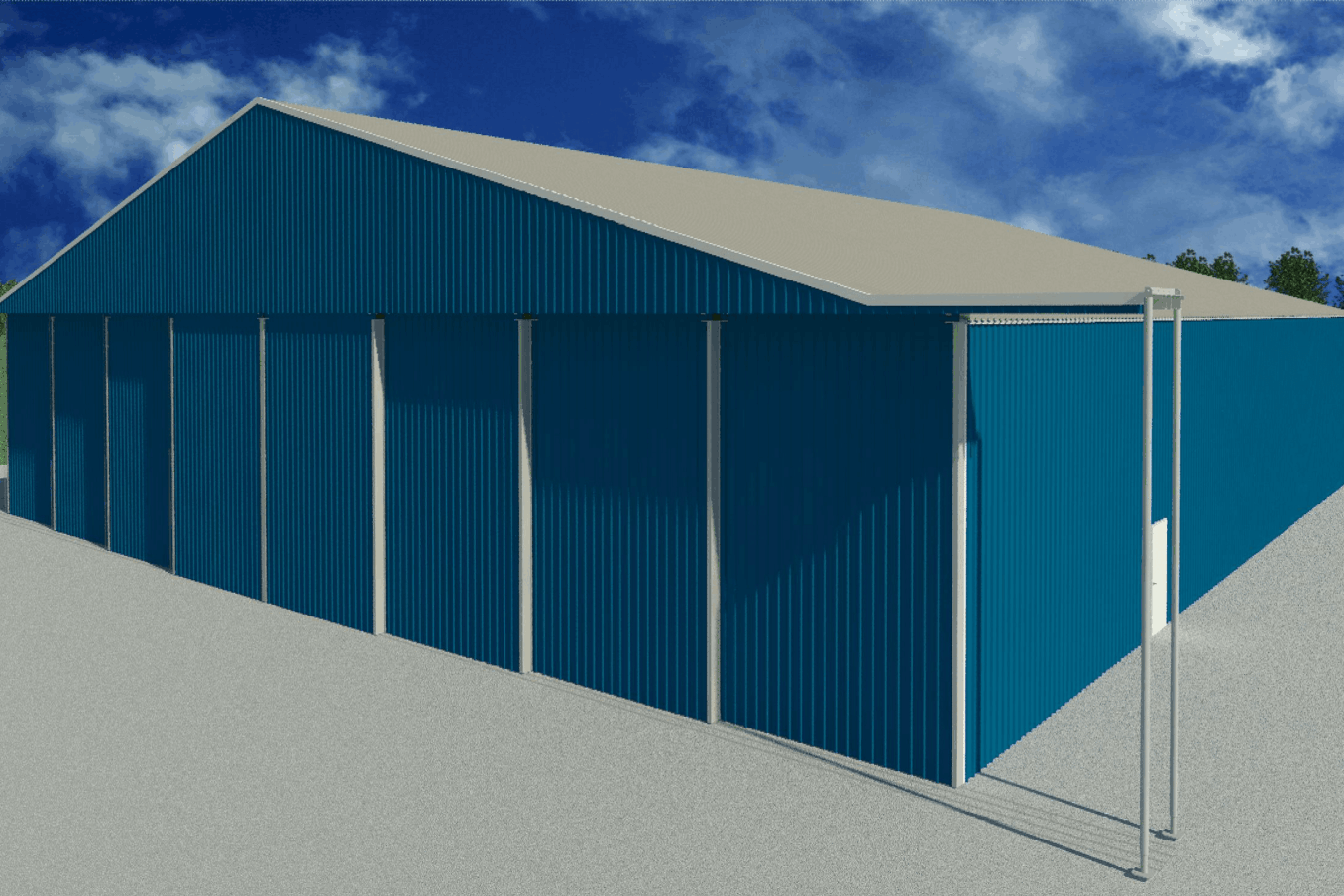 LAMS100 Warehouse Wide Doors Exterior doors closed 1
