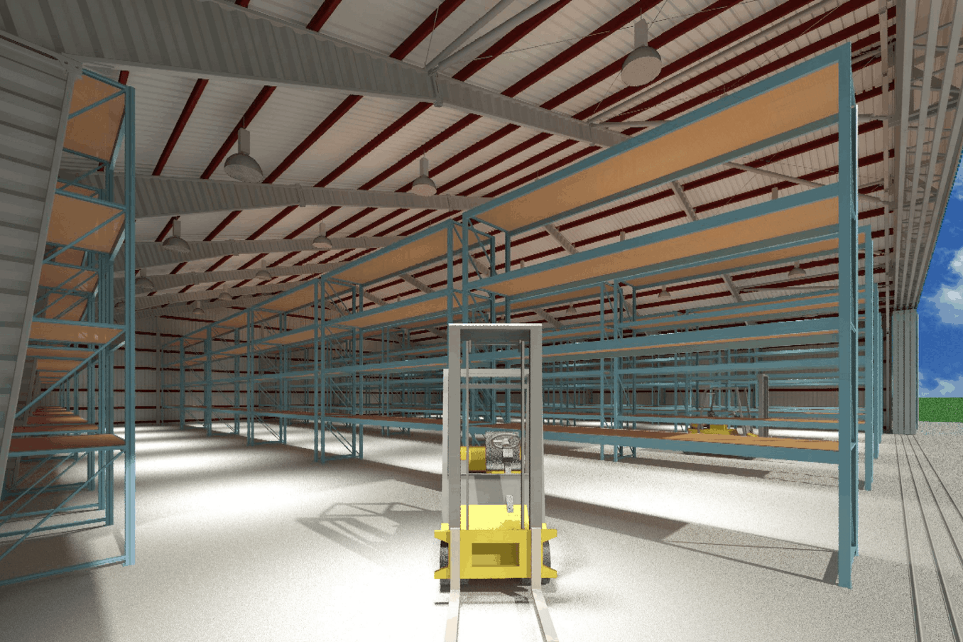 LAMS100 Warehouse Wide Doors Interior 1