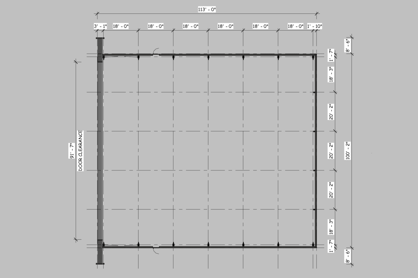 LAMS100 Wide Doors Plan View 1