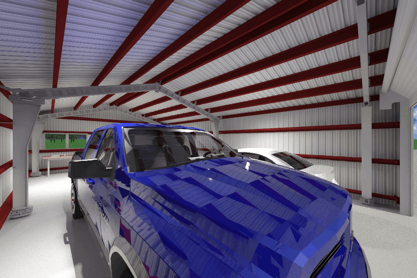 LAMS24 Garage Interior w Cars 1