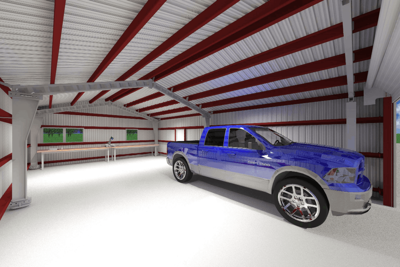 LAMS24 Garage Interior w Single Car 1