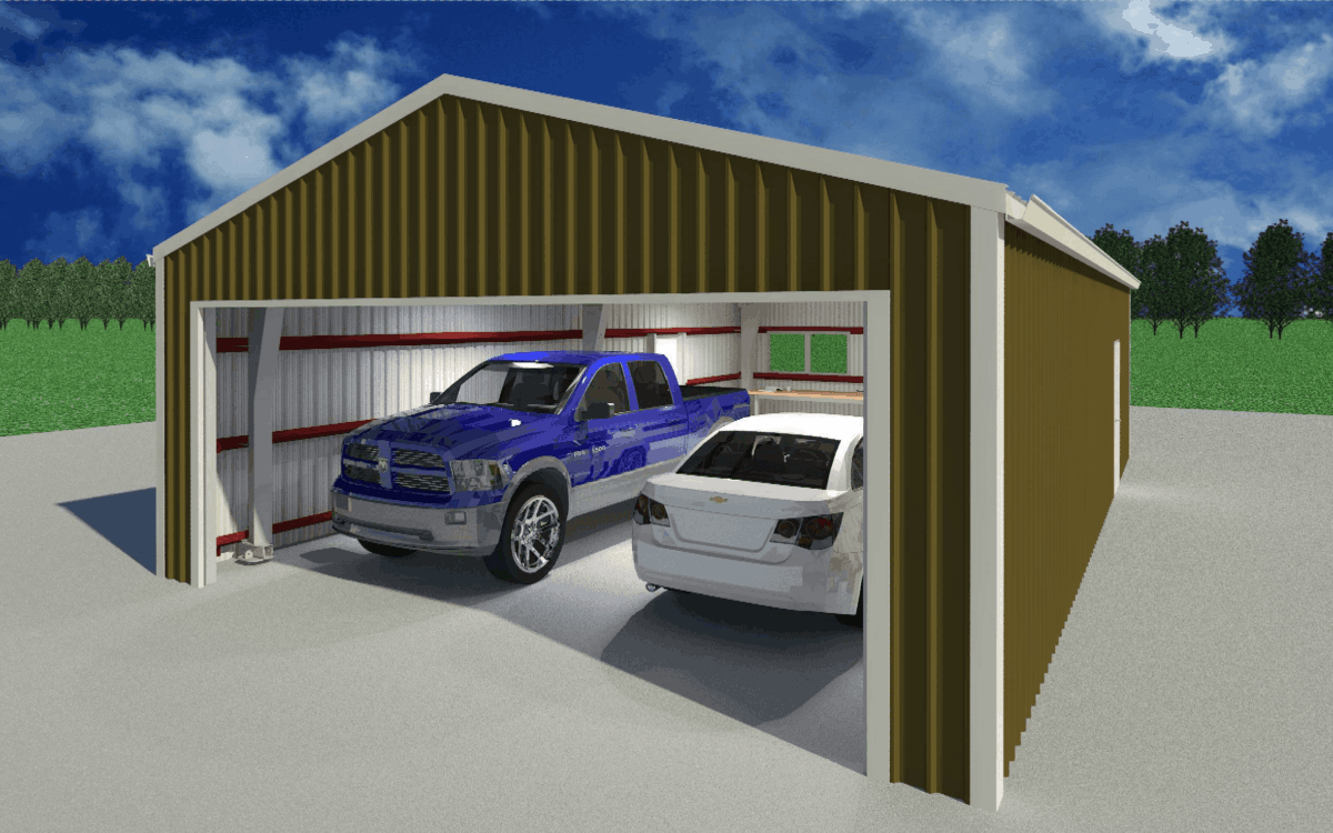 LAMS24 Garage Exterior Door Open 2 1