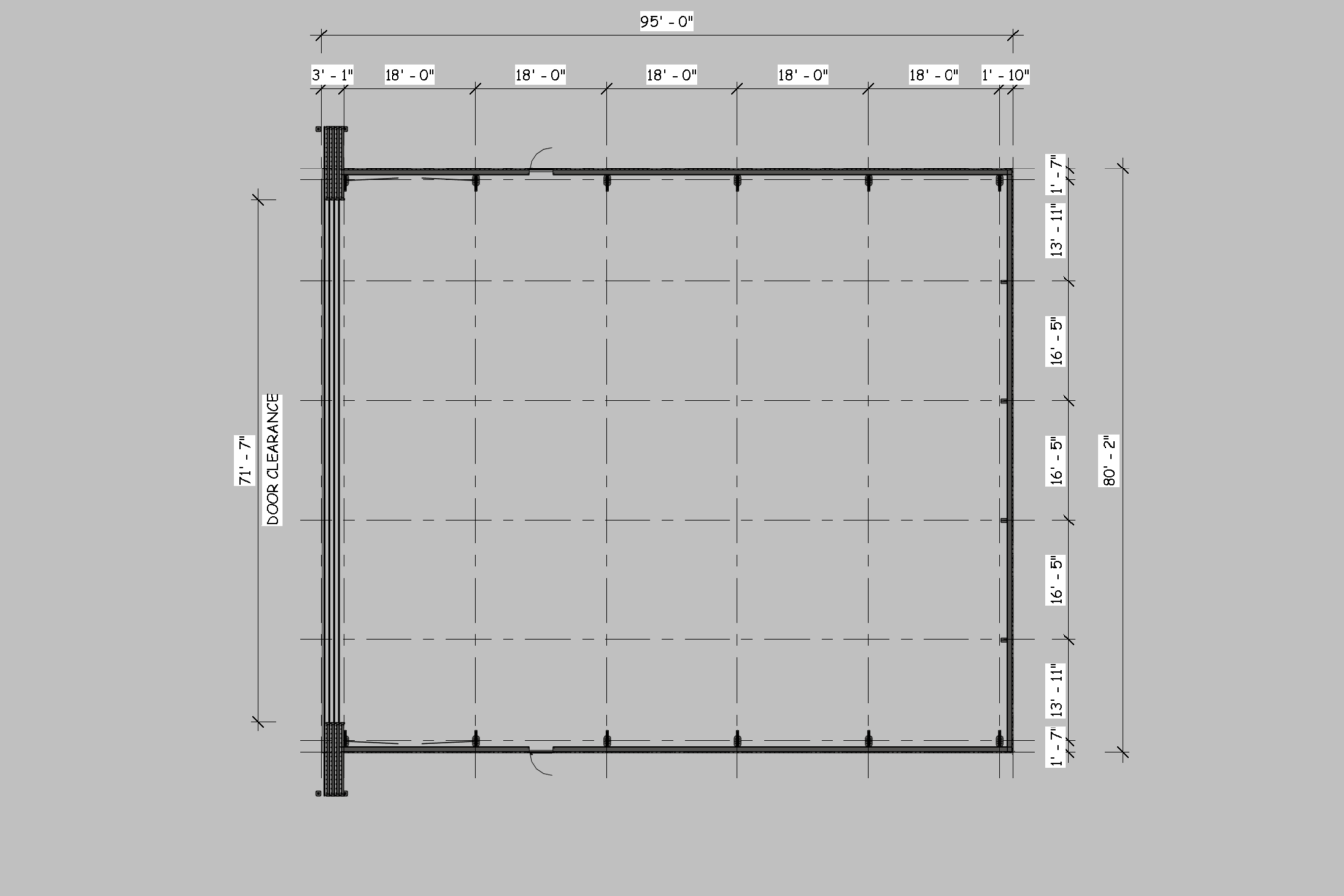 LAMS80 Wide doors Plan View 1