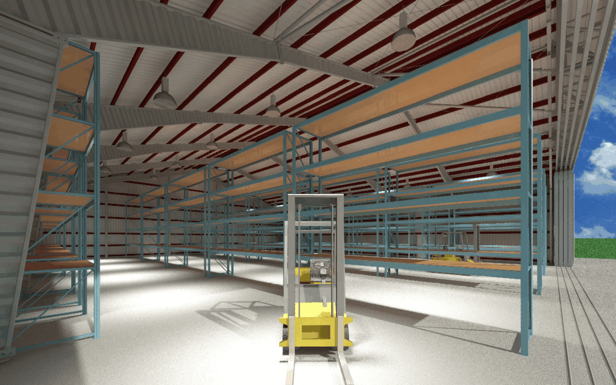 LAMS80 Warehouse Wide doors Interior 1