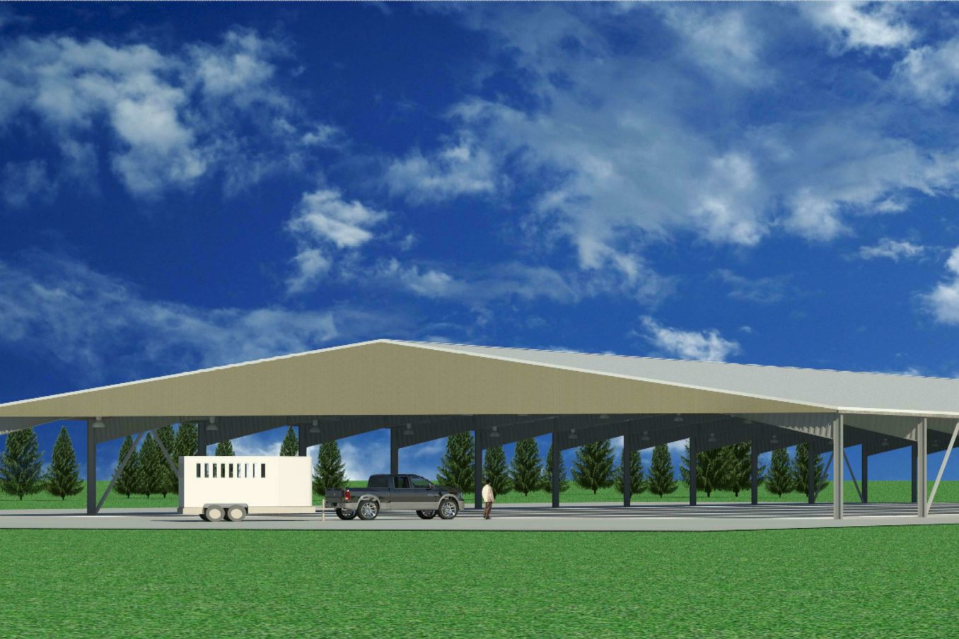 R159 Horse Arena Rendering EXT2